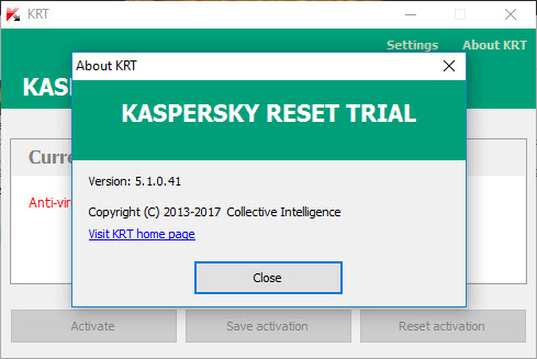 Kaspersky reset trial 2017 / 2018 free download working 100.