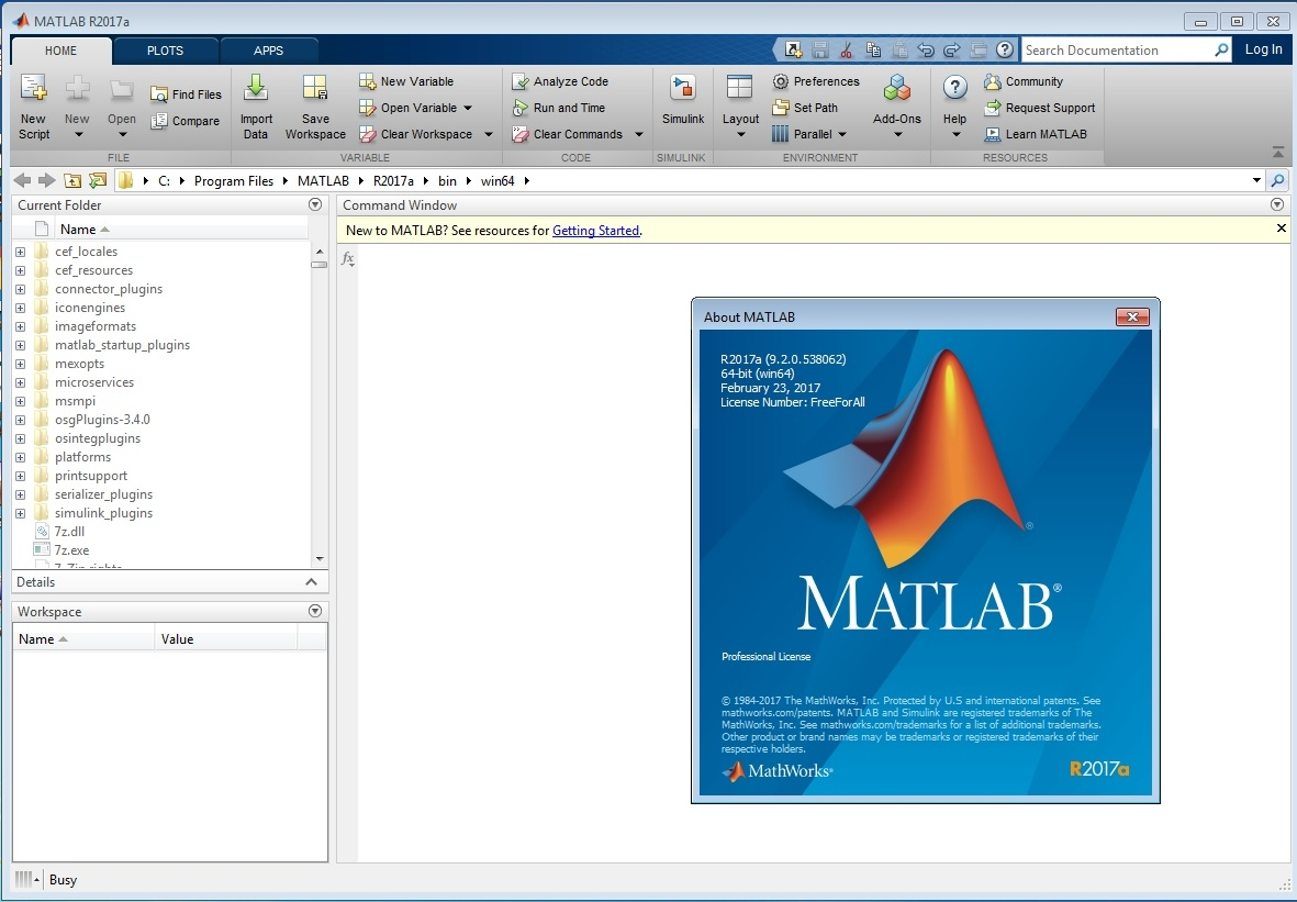 MATLAB Crack R2017a