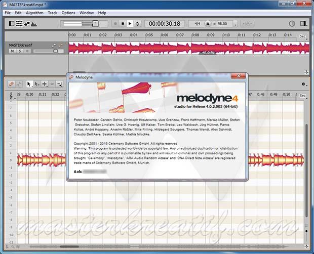 Celemony Melodyne 4 keygen